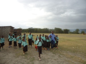 School uniforms, backpacks, and ready to go!